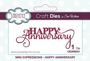 Mini Expressions Collection - Happy Anniversary Die